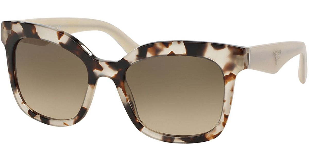 4ed45bba1c27 ... official store prada heritage square sunglasses in brown lyst b4aa5  7978d ...