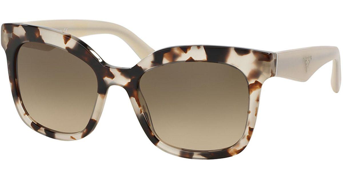 cc96f6dbd6 ... poeme tortoise print square sunglasses in brown 2bf53 c2e5d official  store prada heritage square sunglasses in brown lyst b4aa5 7978d ...