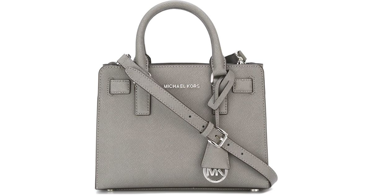 3c3f9f7107bf ... Michael Michael Kors Small dillon Tote in Gray - Lyst ...