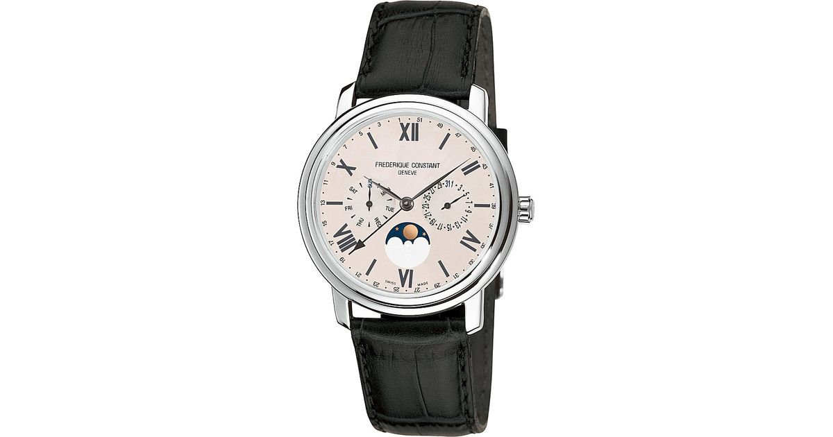 21dff046175 Lyst - Frederique Constant Fc270sw4p6 Classics Business Timer Stainless  Steel Moonphase Watch in Black for Men
