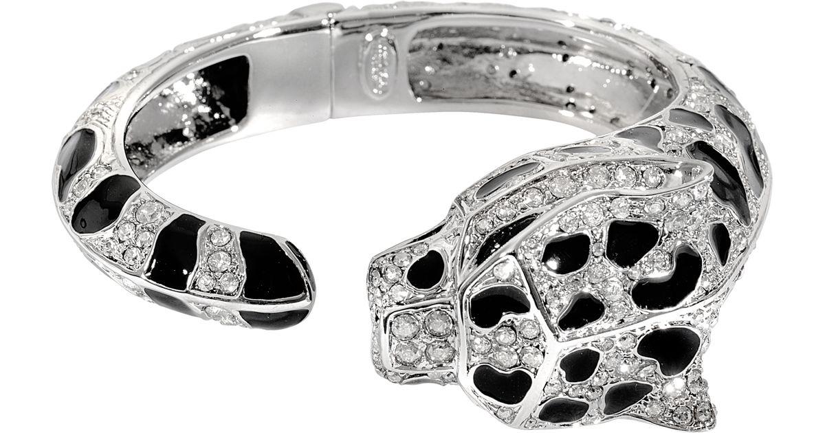 Roberto Cavalli Darda Bracelet in Black Resin and Metal i98D3t