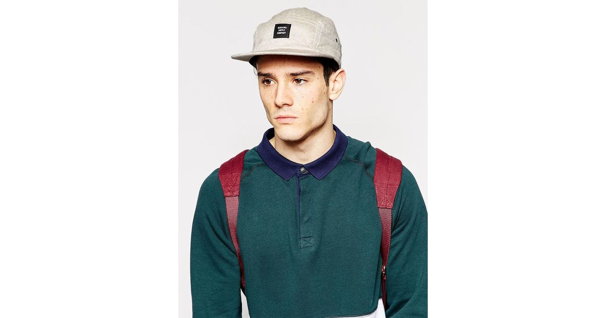 2e4cea6e056 Lyst - Herschel Supply Co. Glendale 5 Panel Cap Exclusive To Asos in  Natural for Men