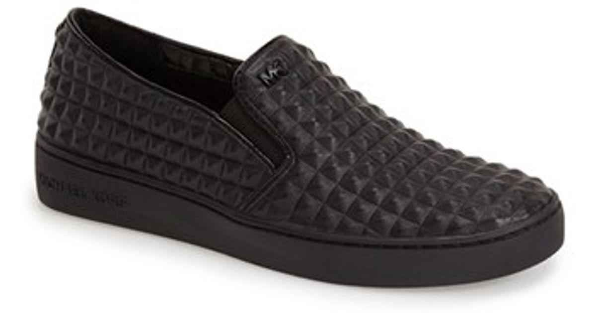 2b13e127a3724 Lyst - MICHAEL Michael Kors  pratt  Studded Slip-on Sneaker in Black