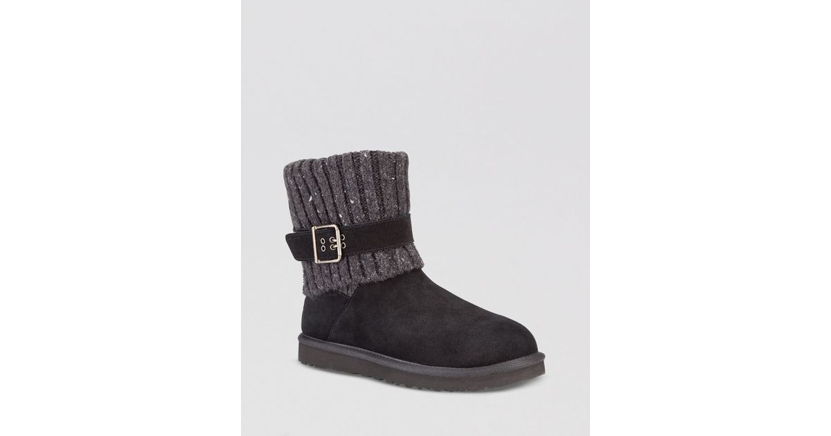 b5f94843be Lyst - UGG Booties - Cambridge Sweater Cuff in Black