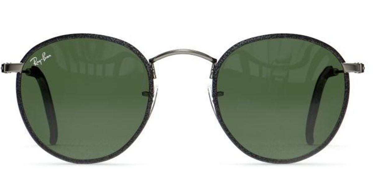 Ray ban rb 3475 q round craft in metallic for men lyst for Ray ban round craft