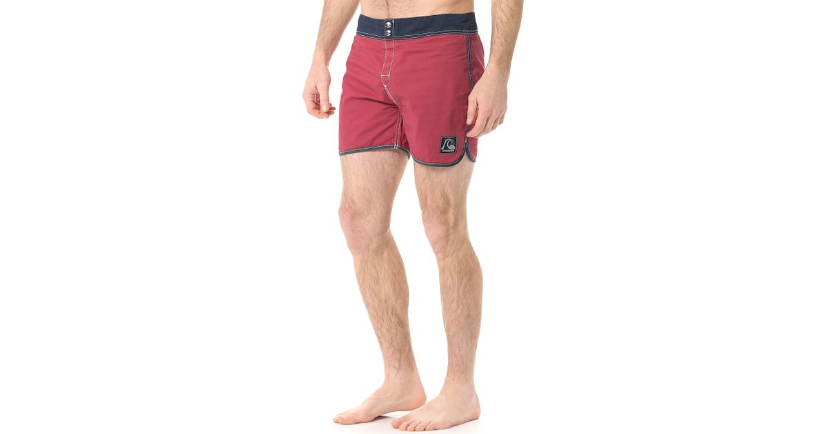 48db1991c2 Quiksilver Scallop 15 Board Shorts in Red for Men - Lyst