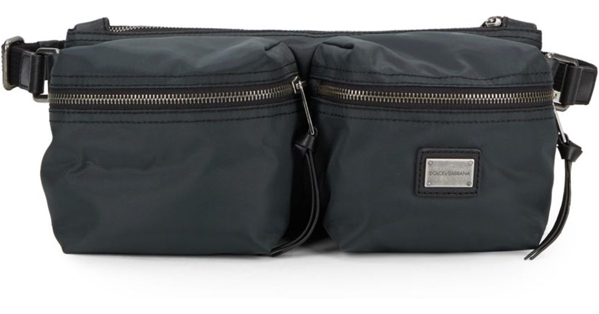 ... save off 87fd5 0383a Lyst - Dolce Gabbana Nylon Waist Bag in Gray for  Men ... eaa486dffb