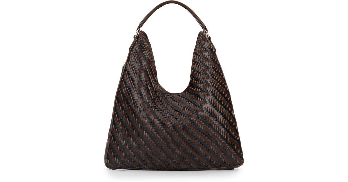c847b4485821 Lyst - Sondra Roberts Woven Hobo Bag in Brown