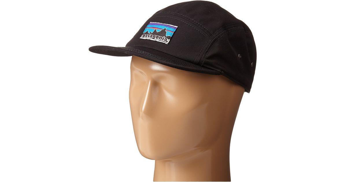 00ae2f2b4ae0f Patagonia Retro Fitz Roy Label Tradesmith Cap in Black - Lyst