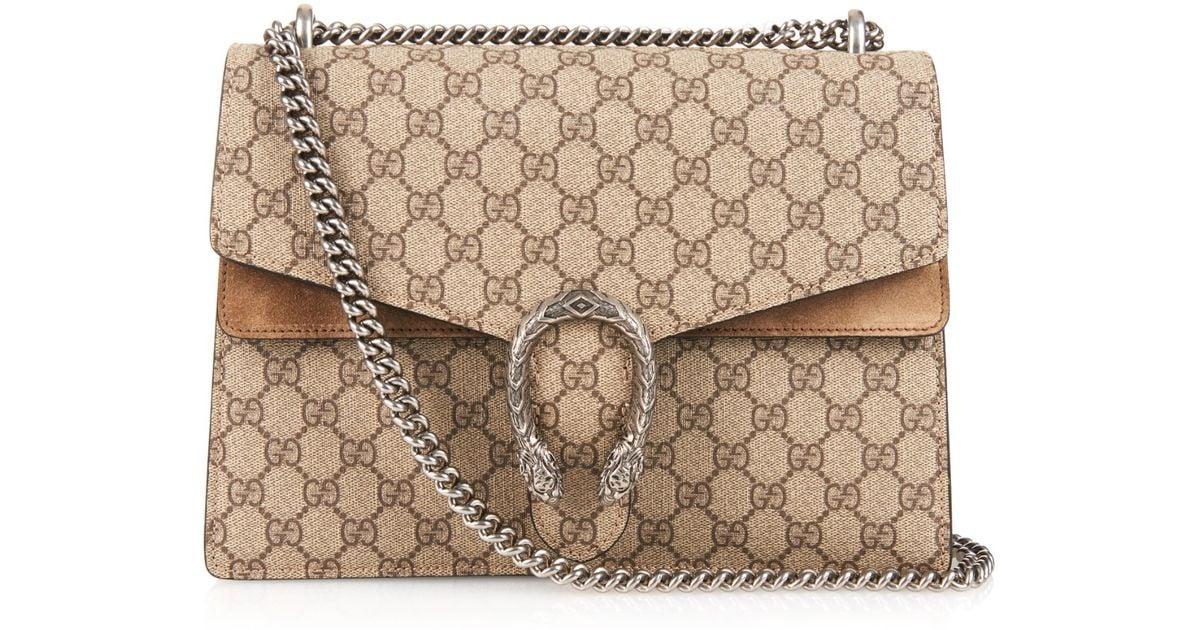 8715fdff2d1c Gucci Dionysus Gg Supreme Canvas Shoulder Bag in Natural - Lyst