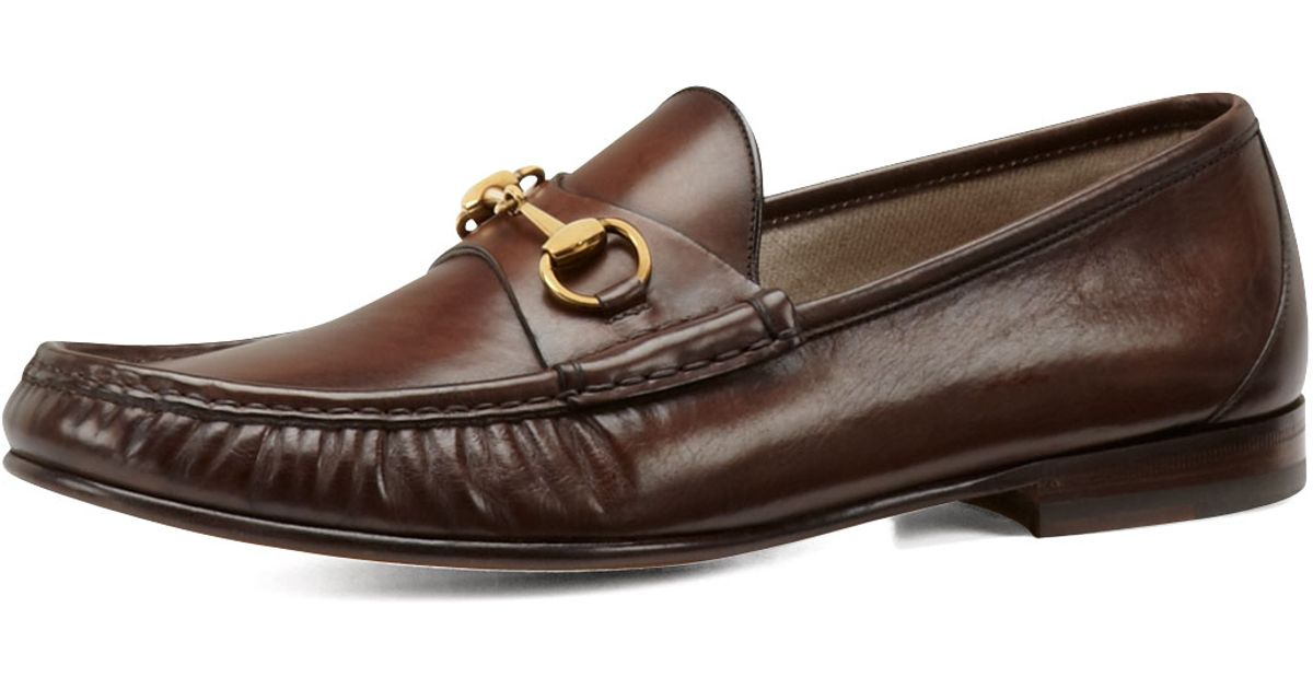 16f788cdde0 Gucci Leather Horsebit Loafer in Brown for Men (COCOA)