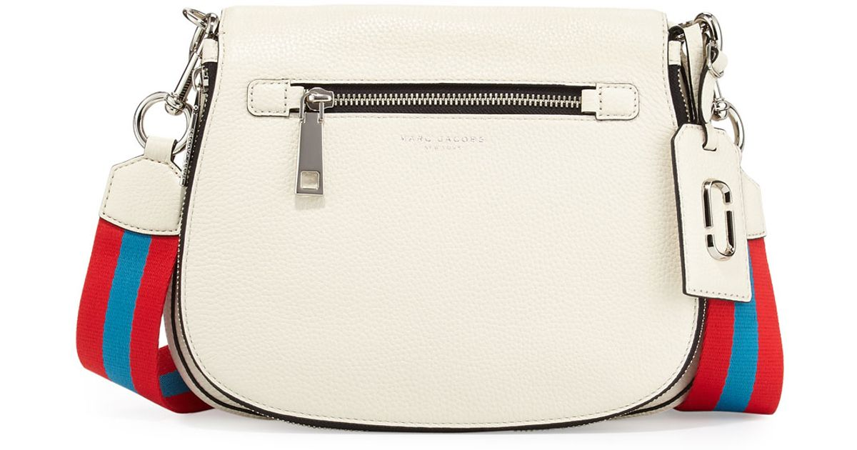 68501d8d75 Marc By Marc Jacobs Gotham Leather Saddle Bag in White - Lyst