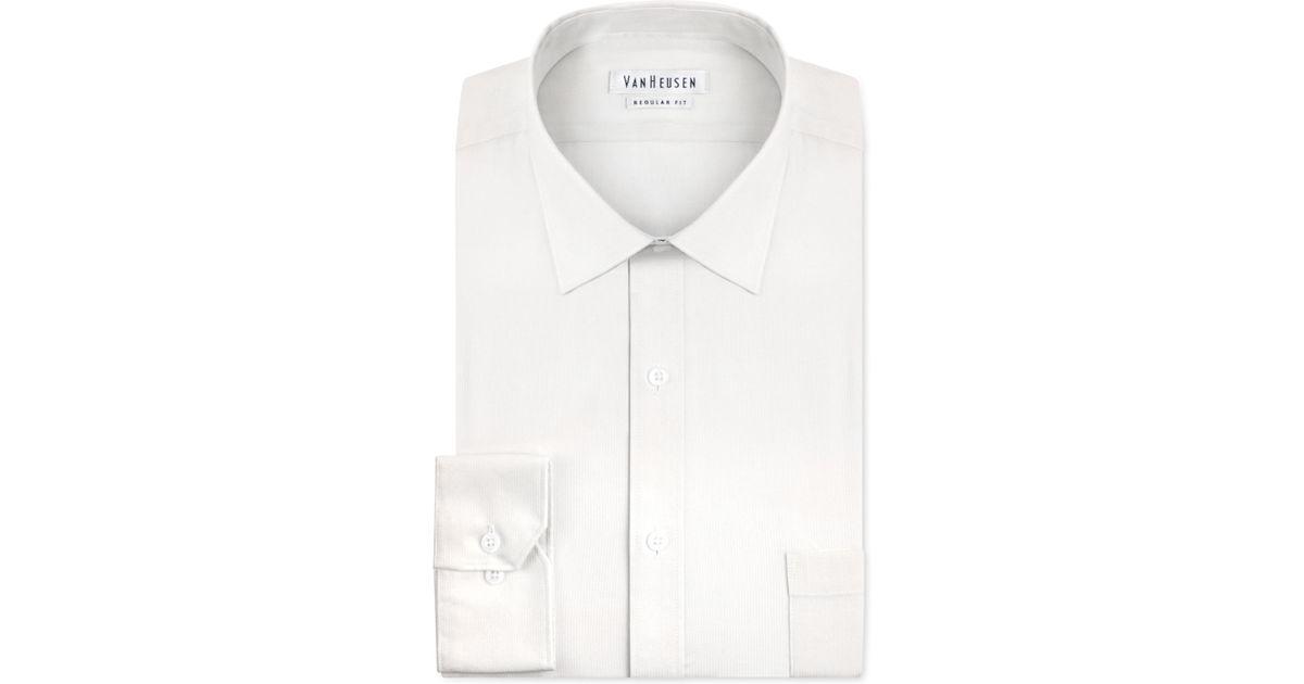Van heusen classic fit pincord solid dress shirt in green for Van heusen men s regular fit pincord dress shirt