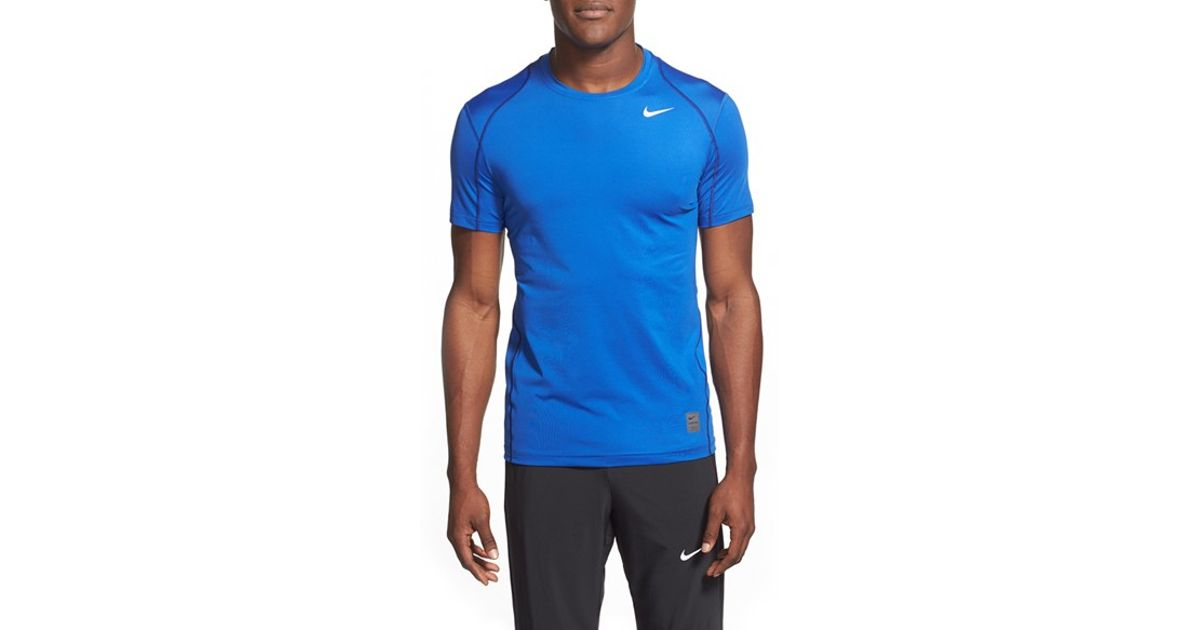 Nike 39 pro cool compression 39 fitted dri fit t shirt in for Dri fit dress shirts