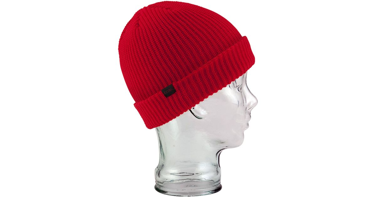85b4872e7f5 Lyst - Coal The Stanley Beanie in Red for Men