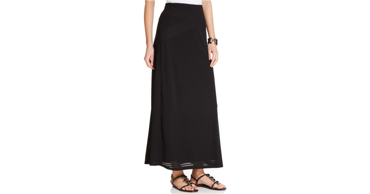 eci ribbed a line maxi skirt in black save 50 lyst