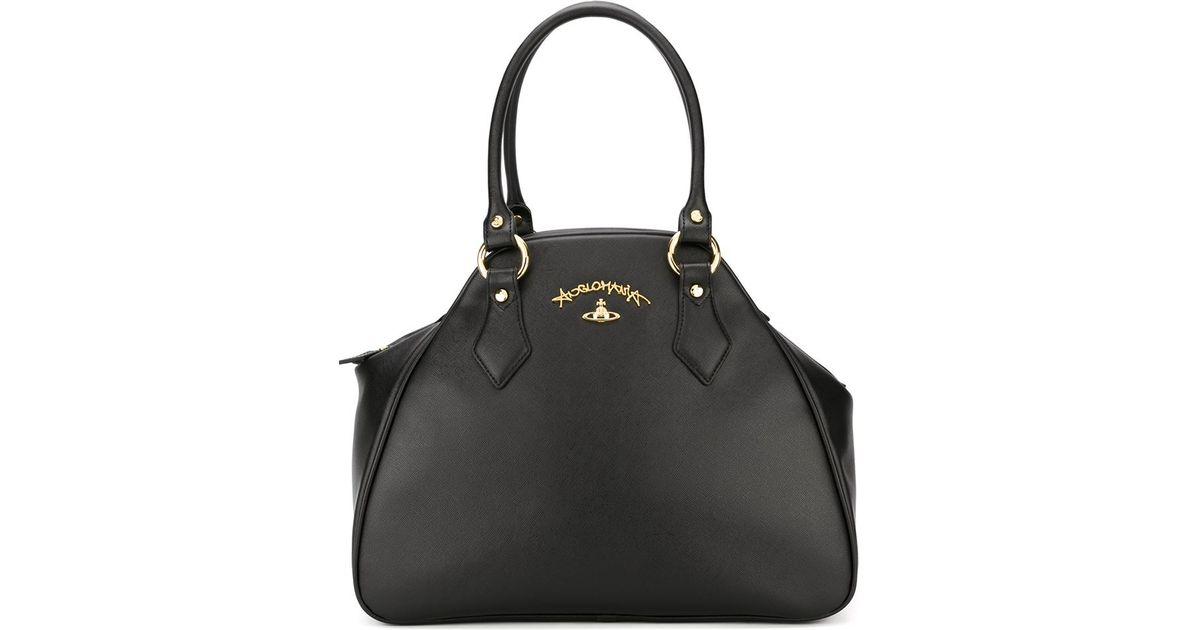 59e21e96aa Vivienne Westwood  divina  Tote Bag in Black - Lyst