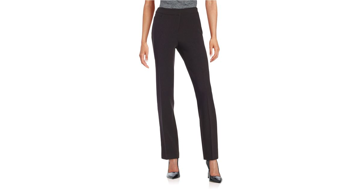 Lyst Rafaella Petite Straight Leg Dress Pants In Black