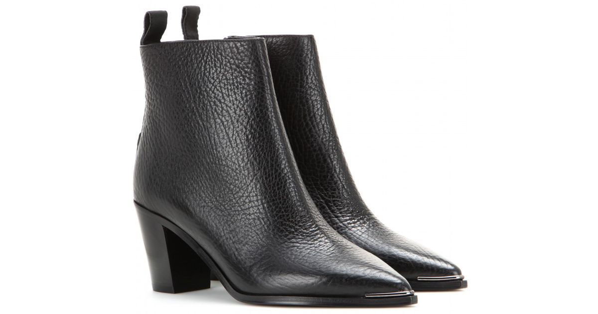 lyst acne studios loma leather ankle boots in black. Black Bedroom Furniture Sets. Home Design Ideas