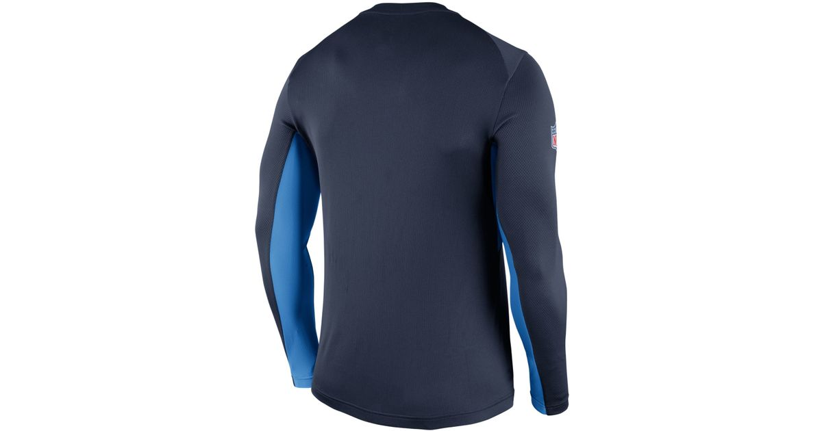 Nike Men S Long Sleeve San Diego Chargers Vapor T Shirt In
