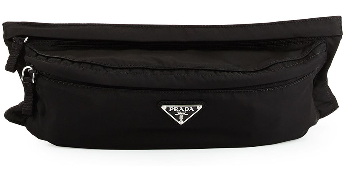 7f7503dc651a Prada Tessuto Montana Belt Bag in Black - Lyst
