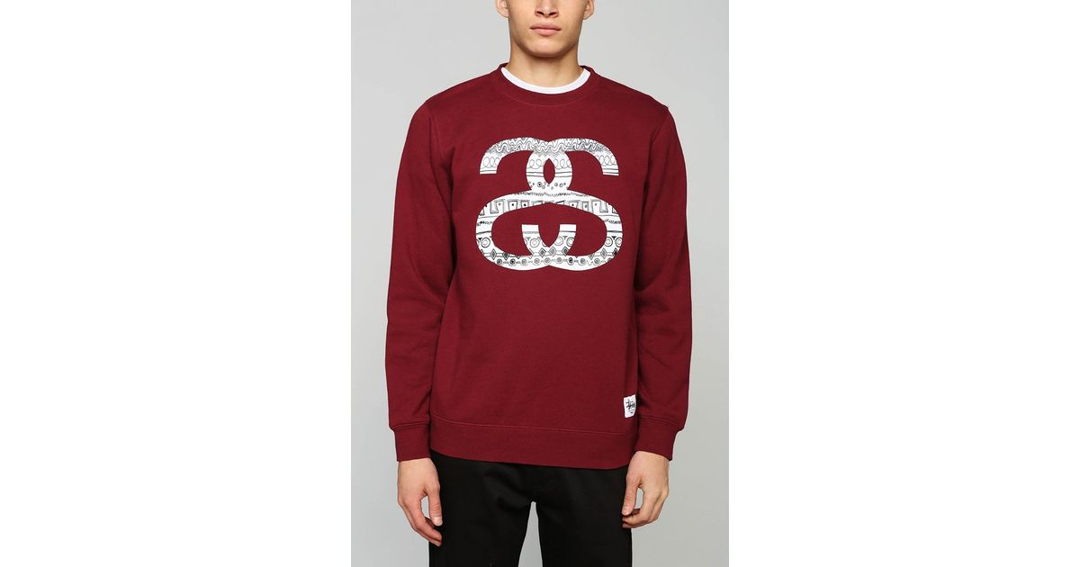 d5e596117f Stussy Ss Link Tomtom Pullover Sweatshirt in Red for Men - Lyst