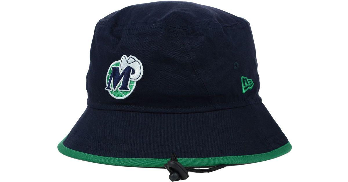 free shipping eab2f a0069 KTZ Dallas Mavericks Hardwood Classics Basic Tipped Bucket Hat in Blue for  Men - Lyst