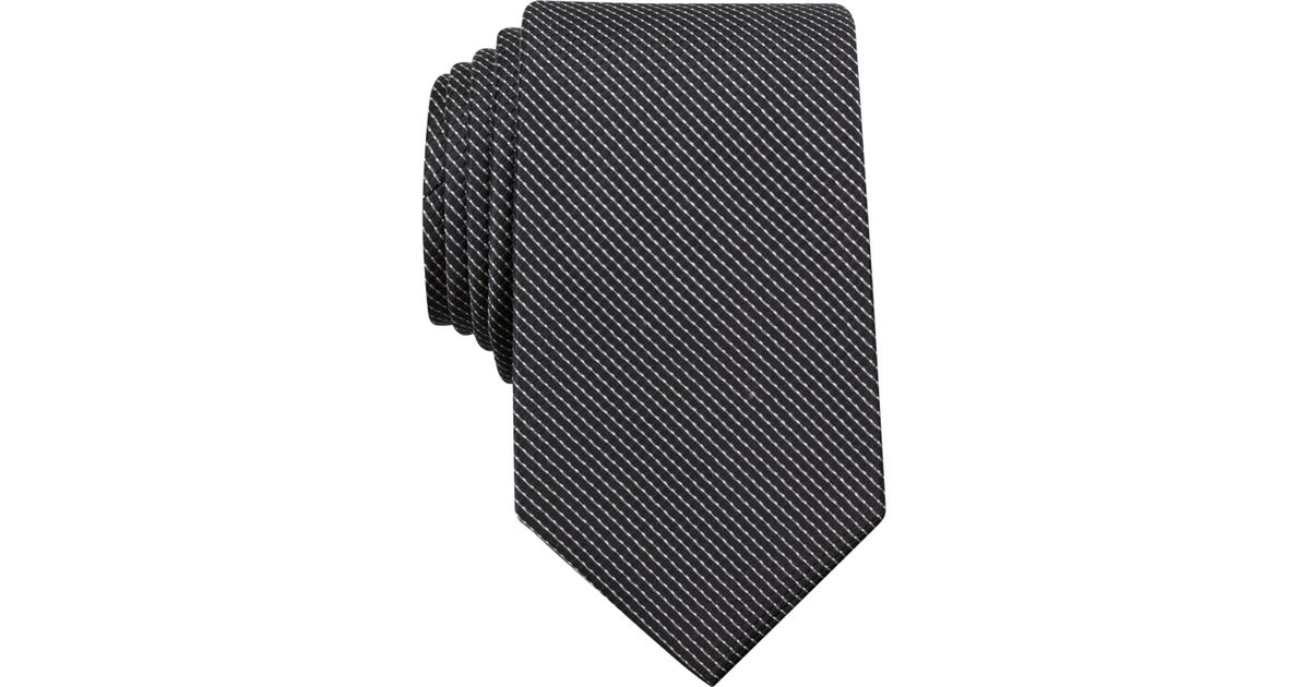 1d12db34b3 Lyst - Perry Ellis Carlson Mini Tie in Black for Men