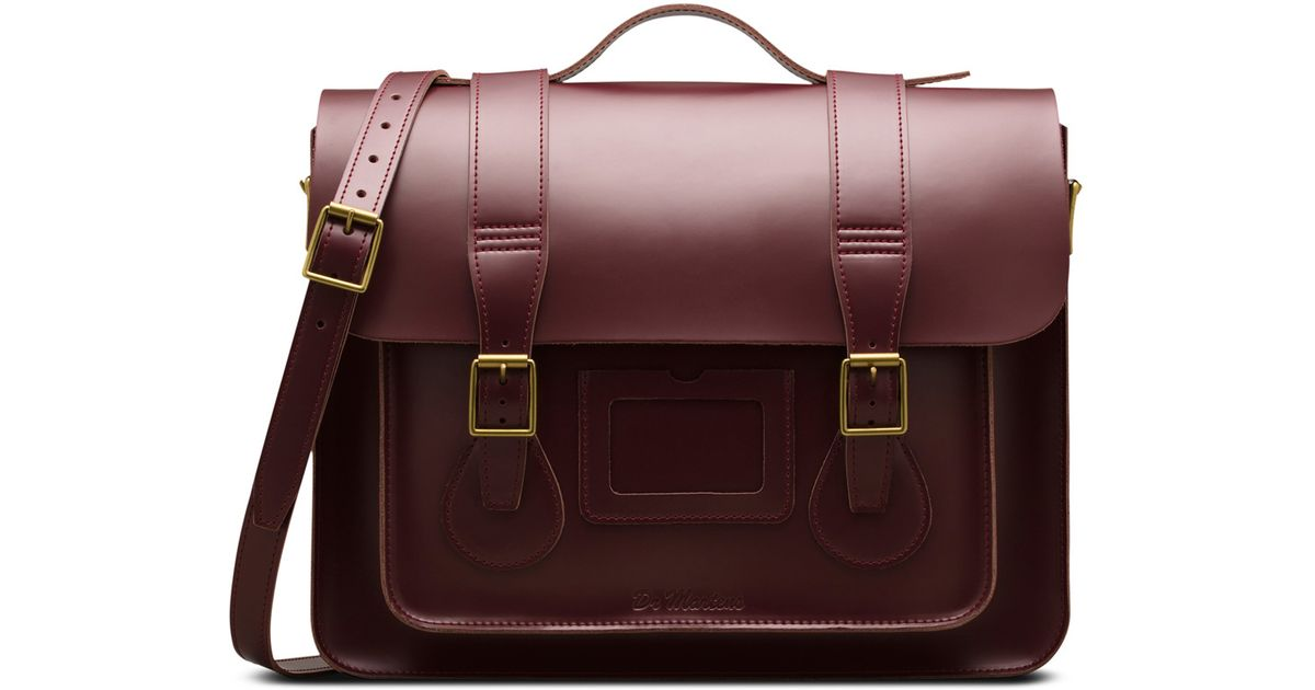 99e1693c77 Dr. Martens 15 In Leather Satchel in Red - Lyst