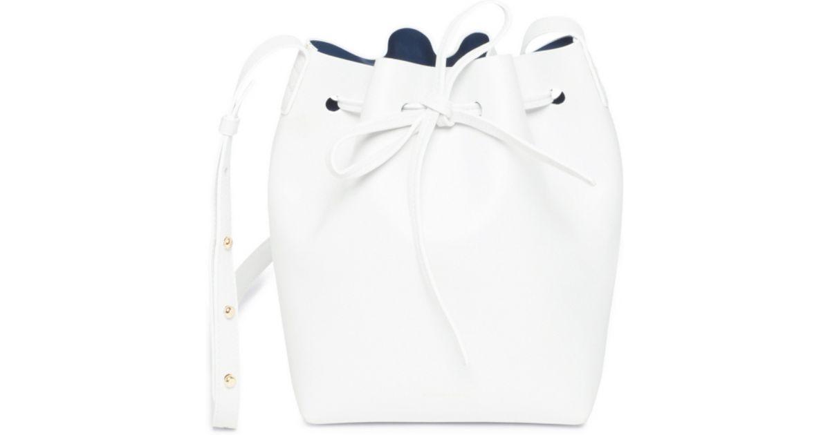Lyst - Mansur Gavriel Mini Bucket Bag in White