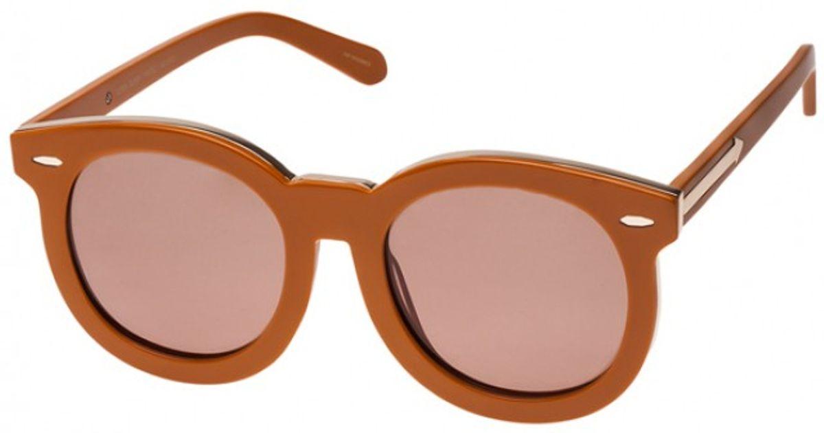 7b5e9119453 Karen Walker Super Duper Thistle Tan   Gold Sunglasses in Brown - Lyst