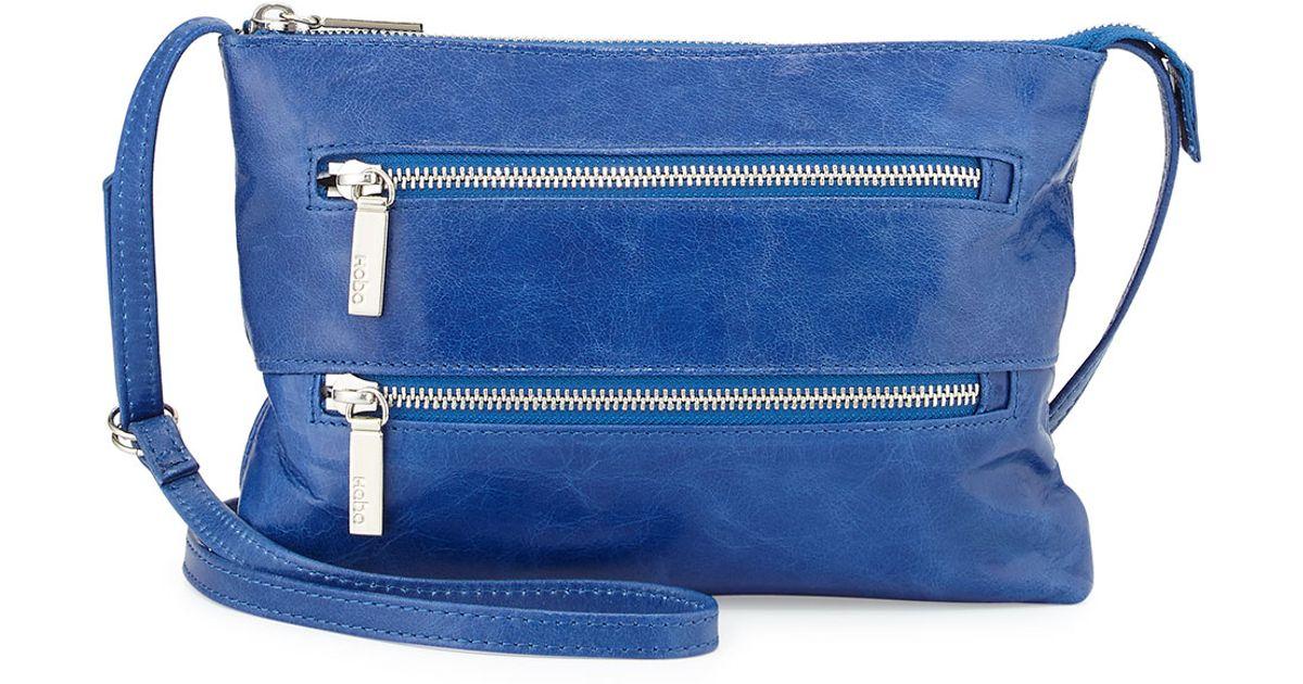 Hobo Mara Small Zip Leather Crossbody Bag in Blue | Lyst