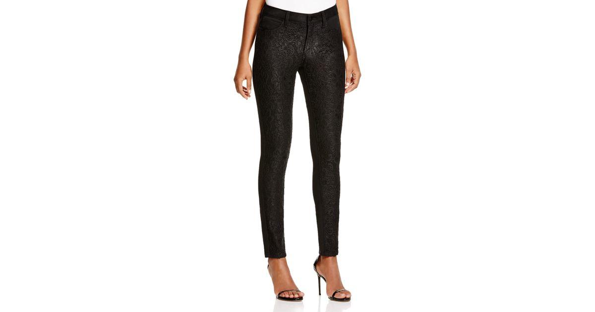 557d5a6df3f06 NYDJ Alina Lace Overlay Legging Jeans In Black Denim in Black - Lyst