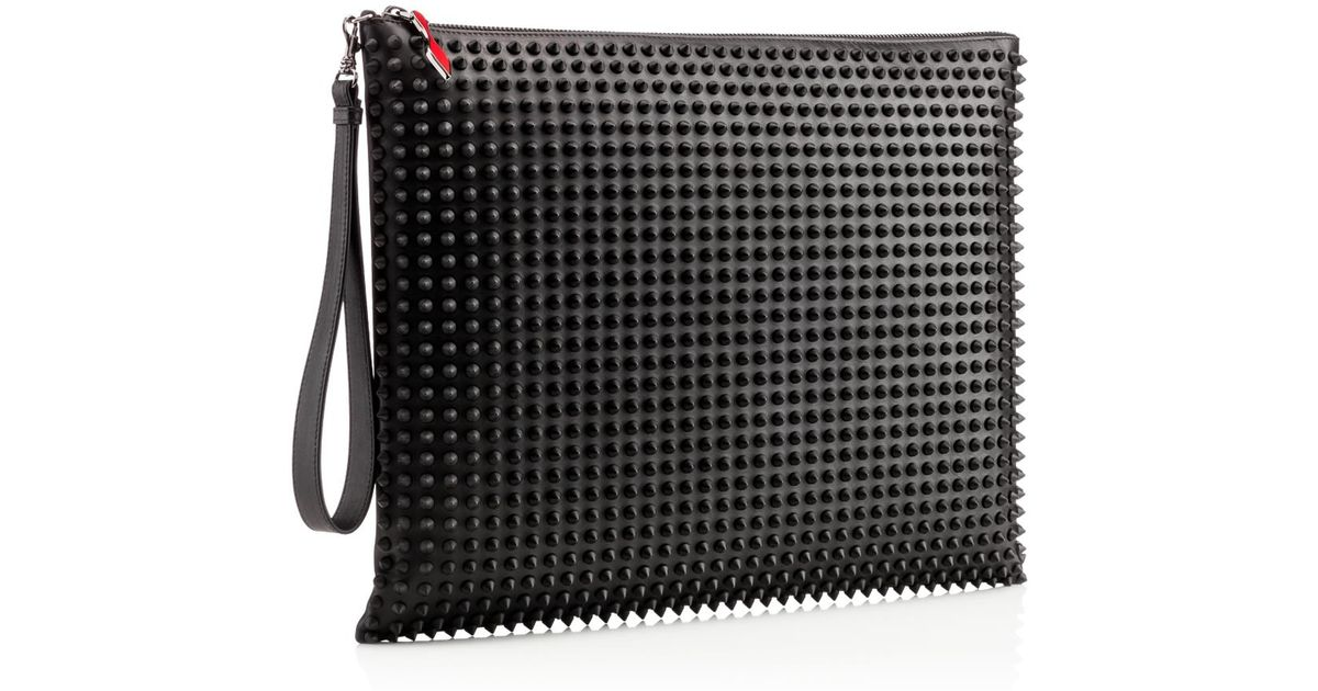 6c61d8110d9c6 Lyst - Christian Louboutin Peter Pouch Calfspikes in Black
