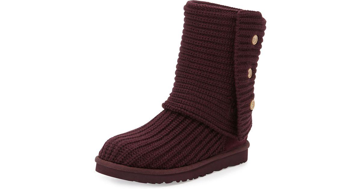 lyst ugg classic cardy crochet boots in purple rh lyst com