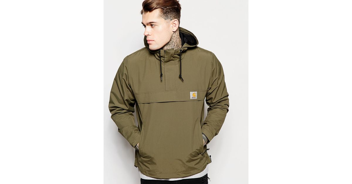 carhartt wip nimbus hooded pullover jacket in green for men lyst. Black Bedroom Furniture Sets. Home Design Ideas