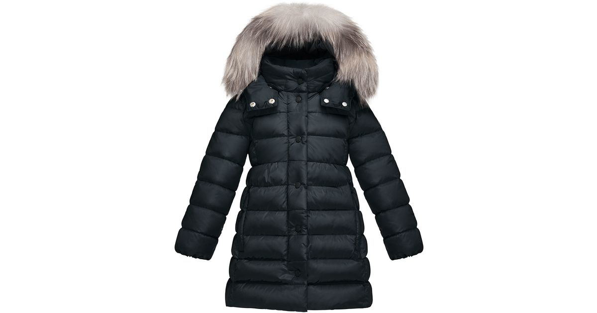 a09ef1c5e03f Moncler Neste Quilted Coat in Blue - Lyst