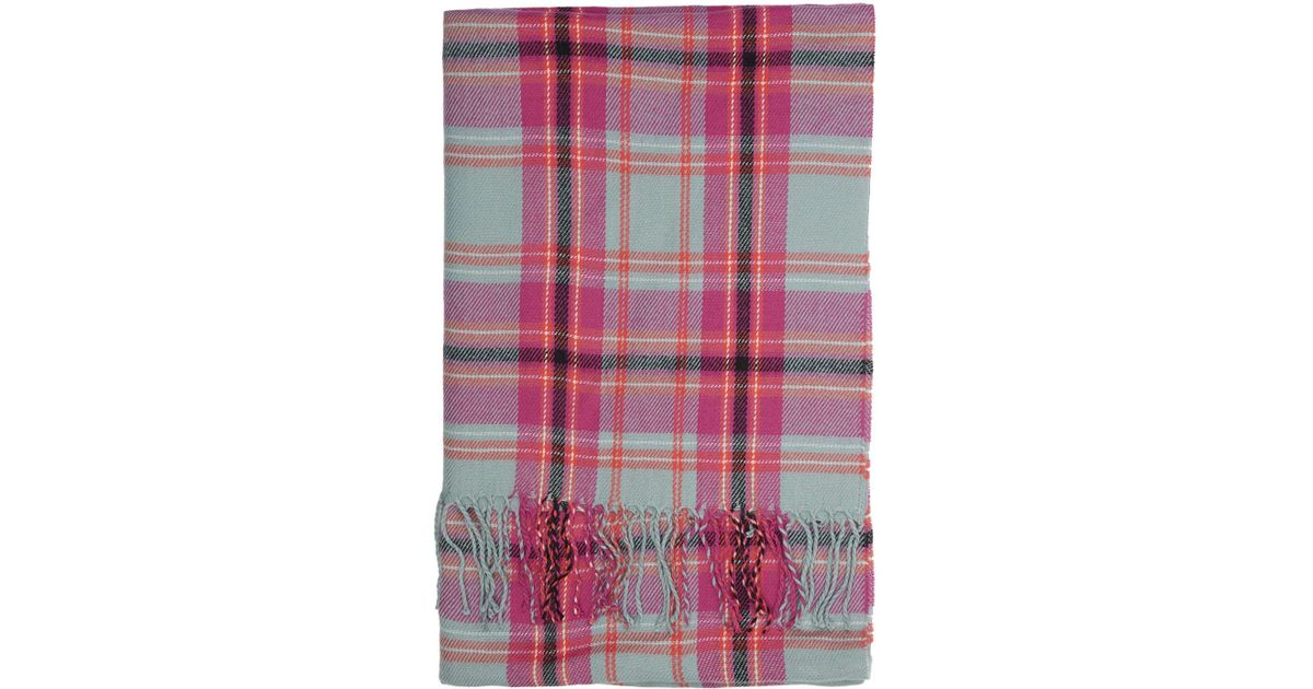 9655d3a10 Lyst - TOPSHOP Bright Check Scarf