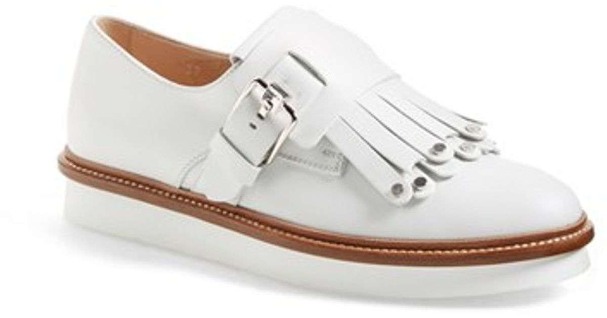 Get To Buy Cheap Price Outlet Footaction Fringed Studded Leather Platform Sandals - White Tod's Cheap Sale Choice Reliable For Sale 7NaeI0u22