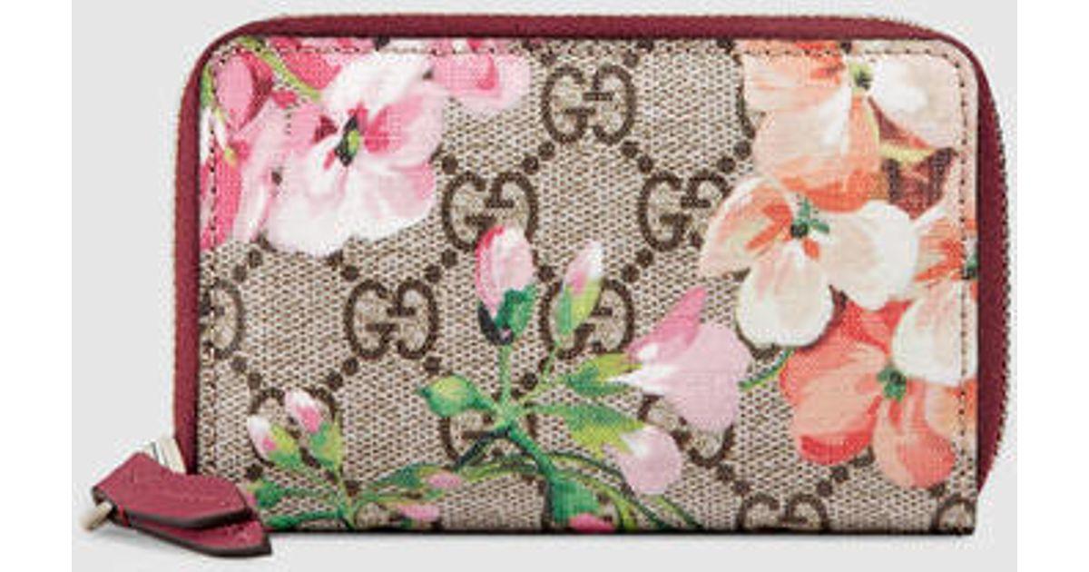 70e6685e2a4330 Gucci Gg Blooms Card Case - Lyst
