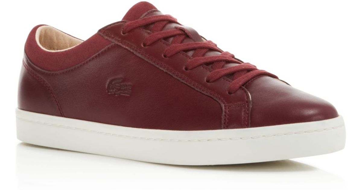 b485105df Lyst - Lacoste Straightset Lace Up Sneakers in Purple