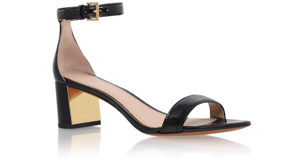 cec41317e0d47 Tory Burch Cecile Patent Sandal in Black - Lyst