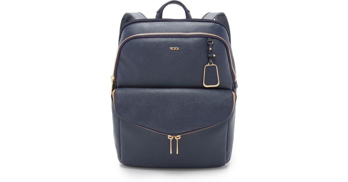 205004b153f Lyst - Tumi Harlow Backpack in Blue