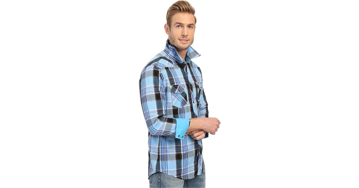 b142eab5 Rock And Roll Cowboy Long Sleeve Snap B2s6268 in Blue for Men - Lyst