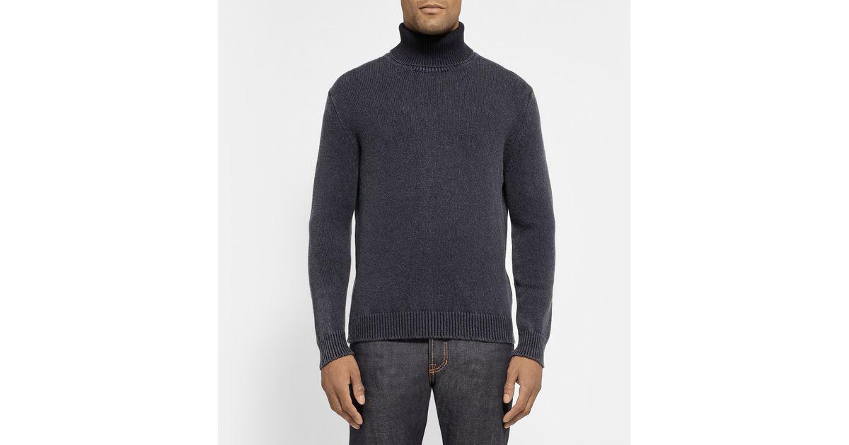 1db96c9b Massimo Alba - Blue Cashmere Rollneck Sweater for Men - Lyst