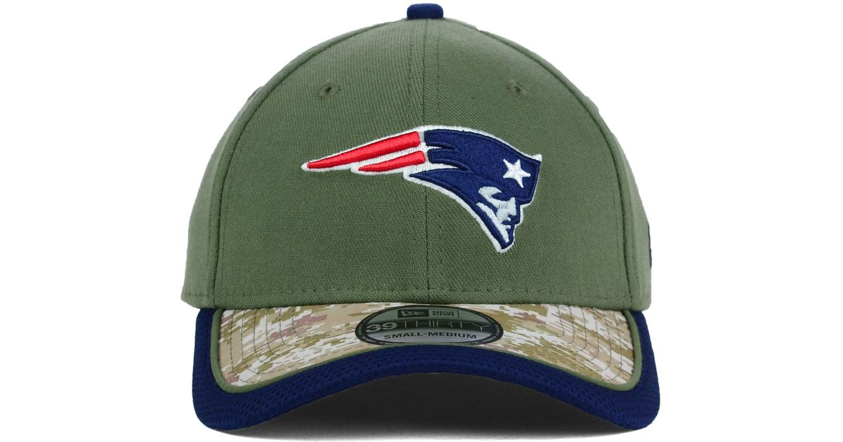 13fb75f798296 Lyst - KTZ New England Patriots Salute To Service 39thirty Cap in Green for  Men