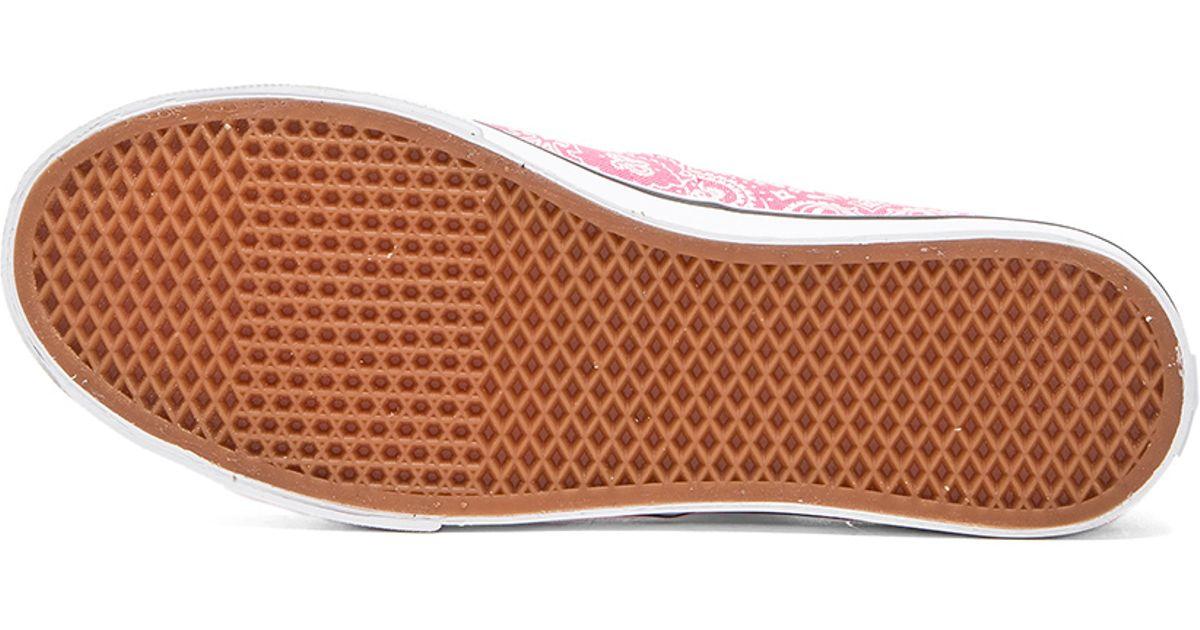 Lyst - Vans Authentic Lo Pro Bandana Sneaker in Pink 4111dd982f