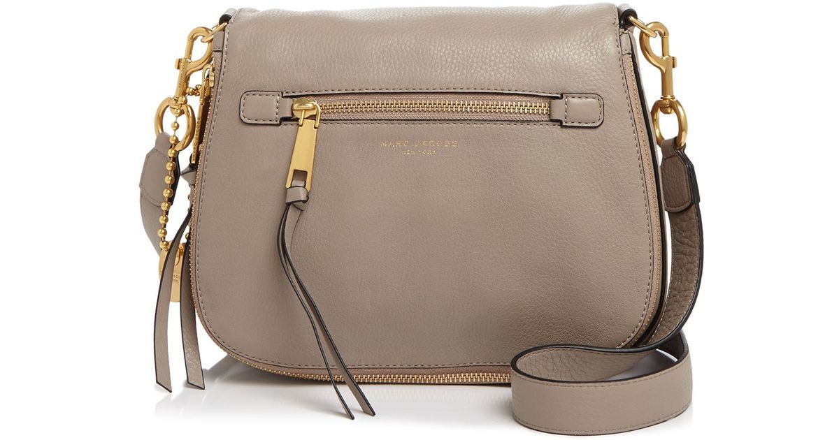 157c57651 Marc Jacobs Recruit Saddle Bag in Gray - Lyst