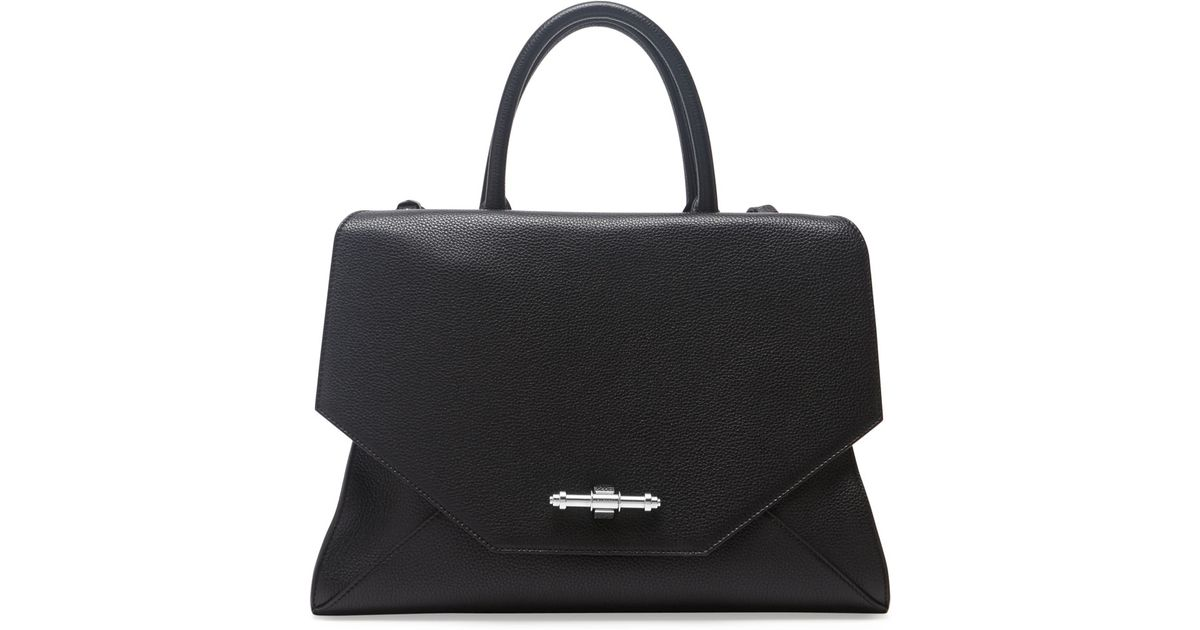 03ef8a0d7fd5 Lyst - Givenchy Obsedia Top Handle Flap Bag Black in Black