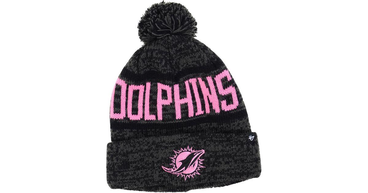eaabb36c3 47 Brand Women's Miami Dolphins Northmont Pom Knit Hat in Gray for Men -  Lyst